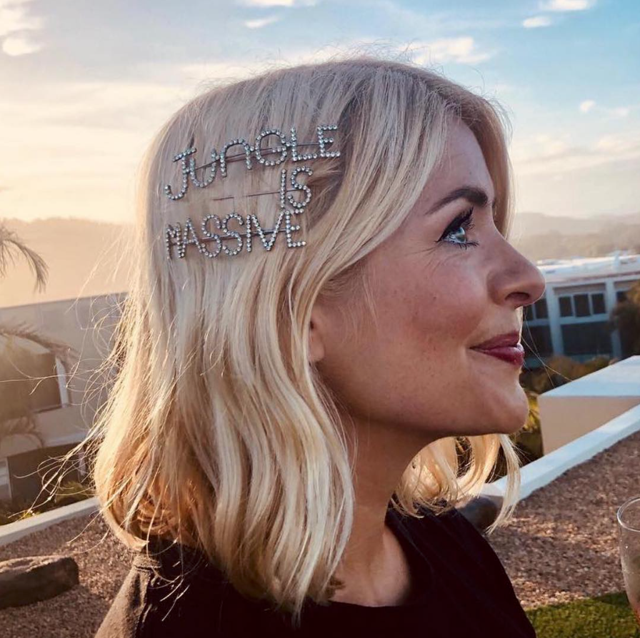 Holly Willoughby wears bespoke hair slides for I'm a Celebrity Get Me Out of Here