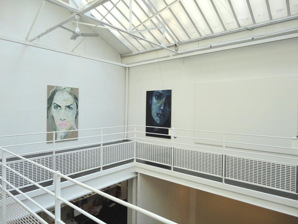 Duo avec Olivier Mosset  gallery Les filles du calvaire, Paris, France