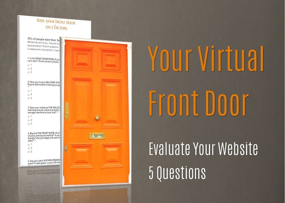 Evaluate your website - virtual front door - 7 content rules for small business, LLC and non-profits