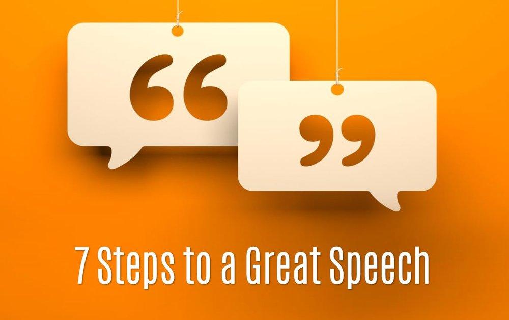 7-Steps to a Great Speech- by Melinda Bak