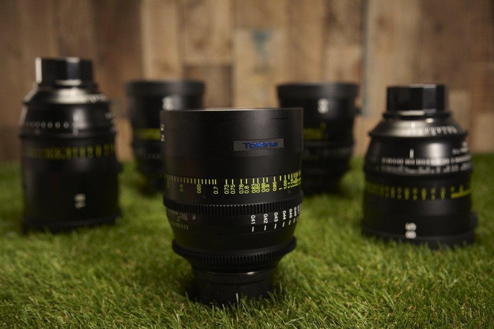 Tokina Vista Primes - Full Frame T1.5    18mm  CF 0,45m -  25mm  CF 0,35m -  35mm  CF 0,41m -  50mm  CF 0,48m -  85mm  CF 0,85m  Poor man's Master Prime - Sharp and beautifull lens - AND it's Full Frame.
