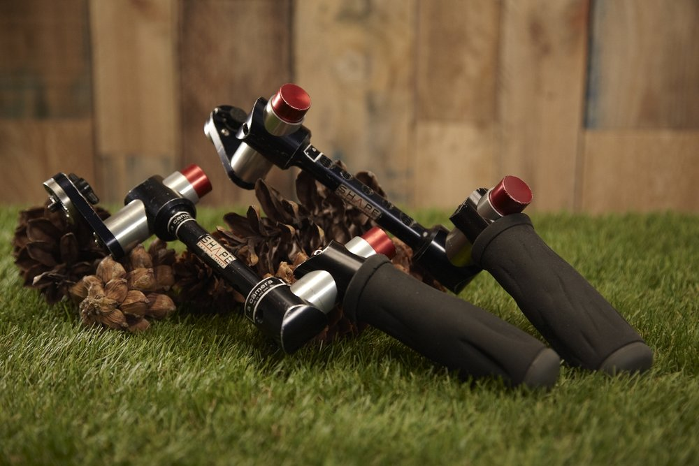 Shape 10 - Handles   Going handheld?  Here are the handles of choice.  Fast, solid, secure hand grips, rugged and rolled.