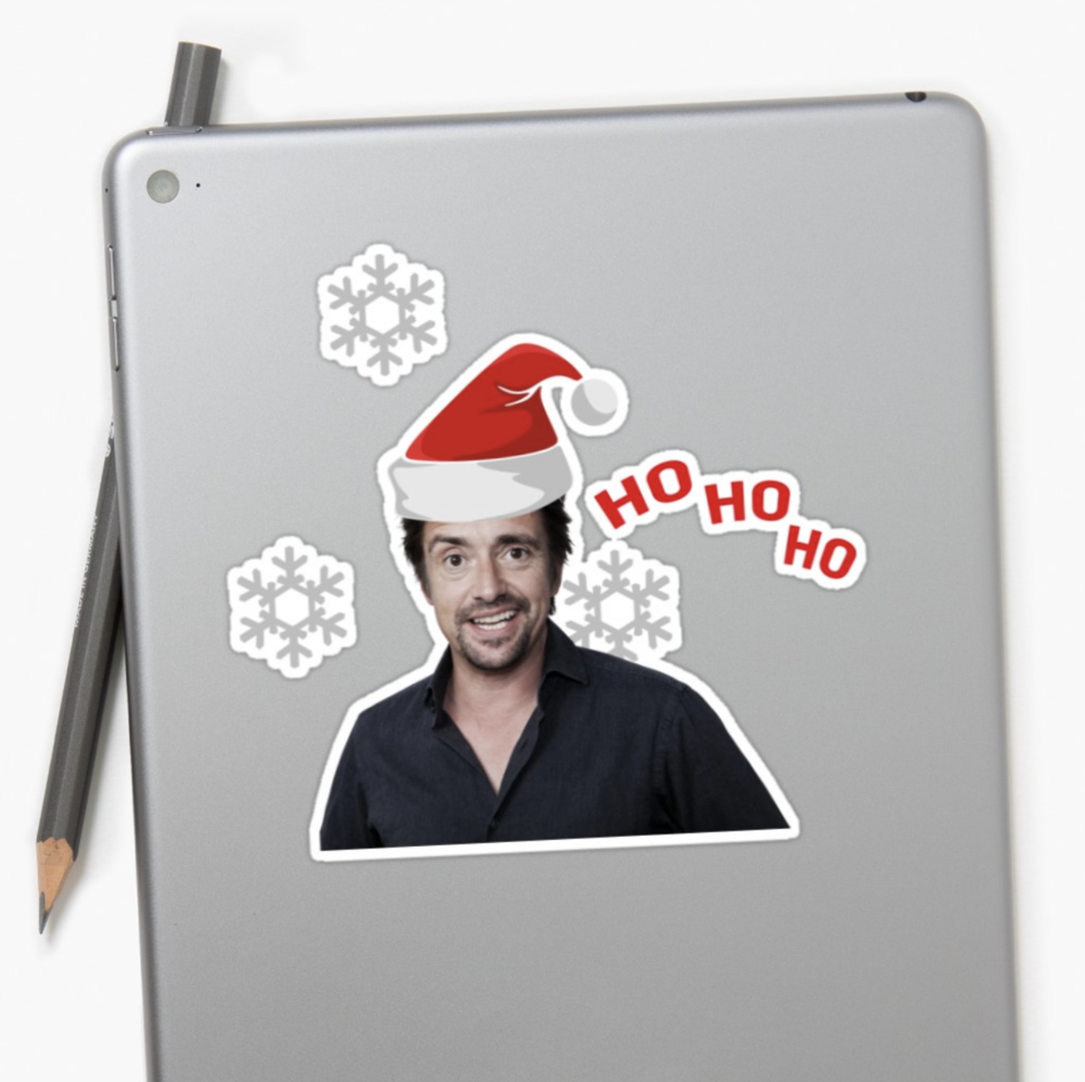AVAILABLE ON STICKERS,T-SHIRTS,PILLOWS< DRESSES, HOODIES, CASES, & MUGS - Ho Ho Ho HAMMOND