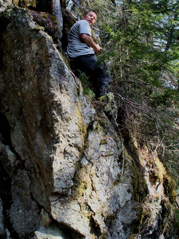 Reinhold Bacher exploring the area