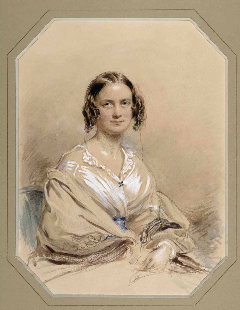 Water-color of Emma Darwin by George Richmond