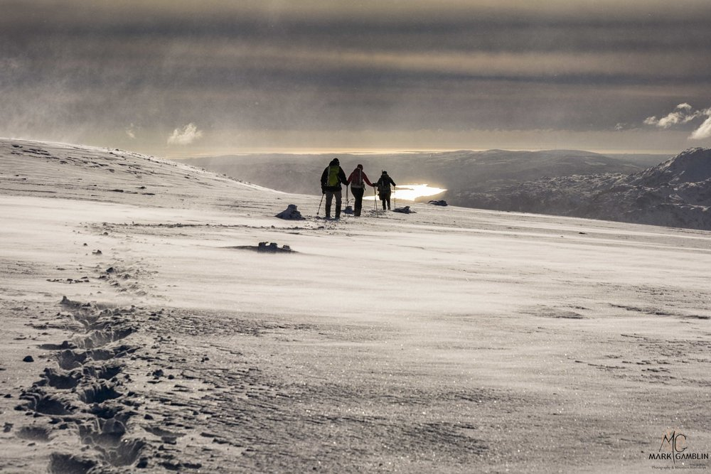 Hikers Descending from Nethermost Pike