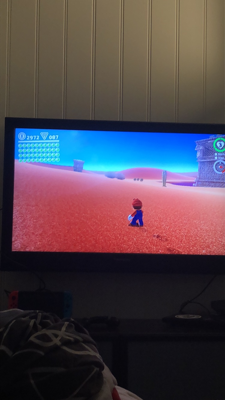 I bought myself a Switch and I seriously love it! - Here, playing Mario Odyssey while waiting for Pollution to dry.Anyone that have not played this game is seriously missing out on some lmao entertainment.