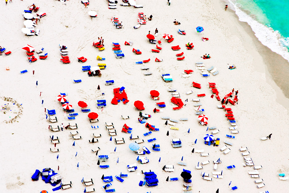 South Beach, Red and Blue
