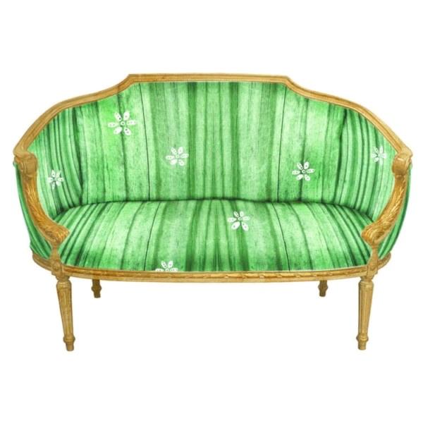 Gold Settee Green