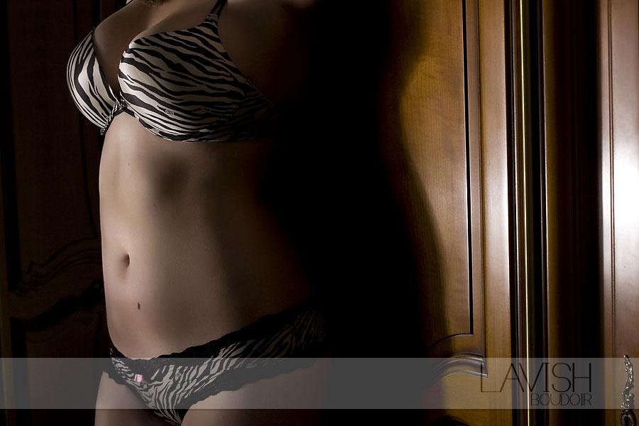 Miss A - Lavish - Boudoir - zebra - bra & panty set