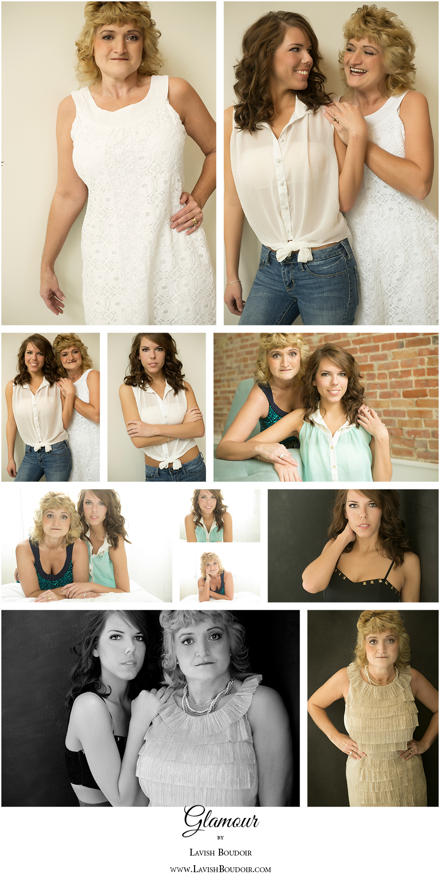 Mother & Daughter Glamour Portraits