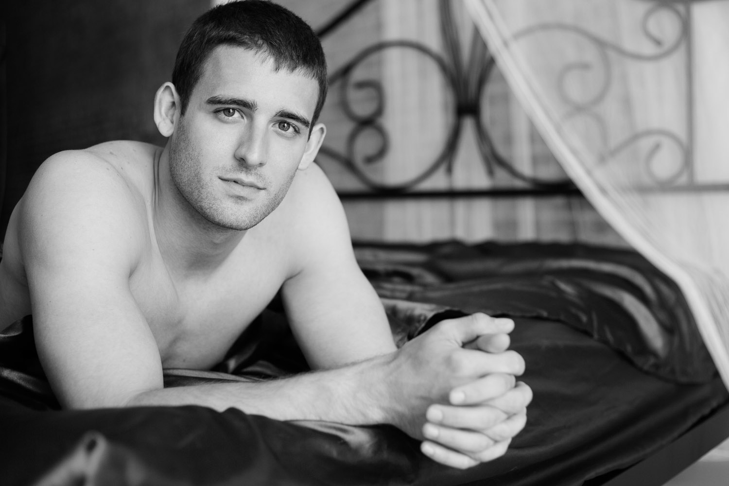 Calvin Klein inspired lavish boudoir couple's session copyright Leslie Cersovski