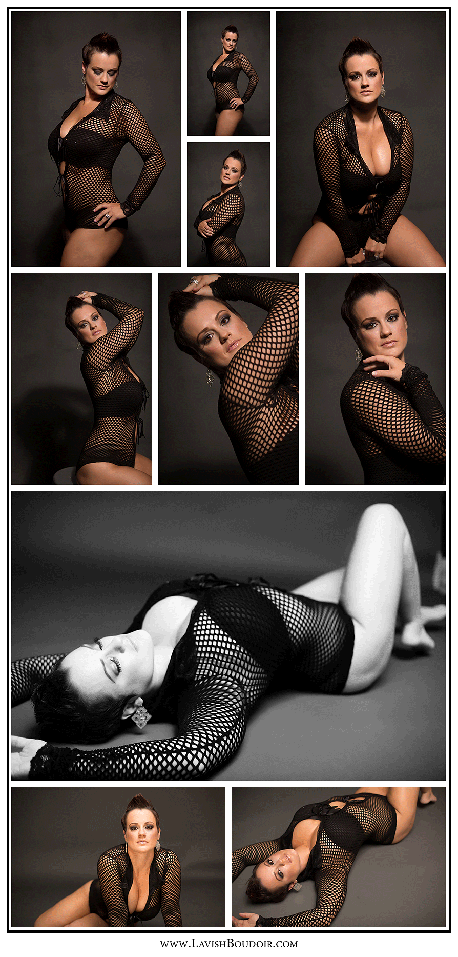 Copyright Leslie Cersovski @ Lavish Boudoir www.LavishBoudoir... - Valdosta - Georgia - all rights reserved fishnet, model, badass