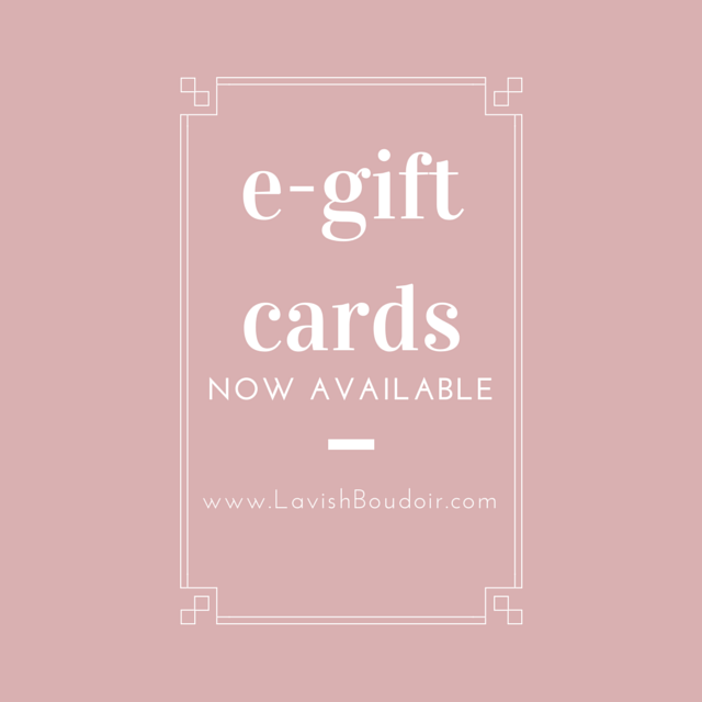 e-gift cards from lavish Boudoir