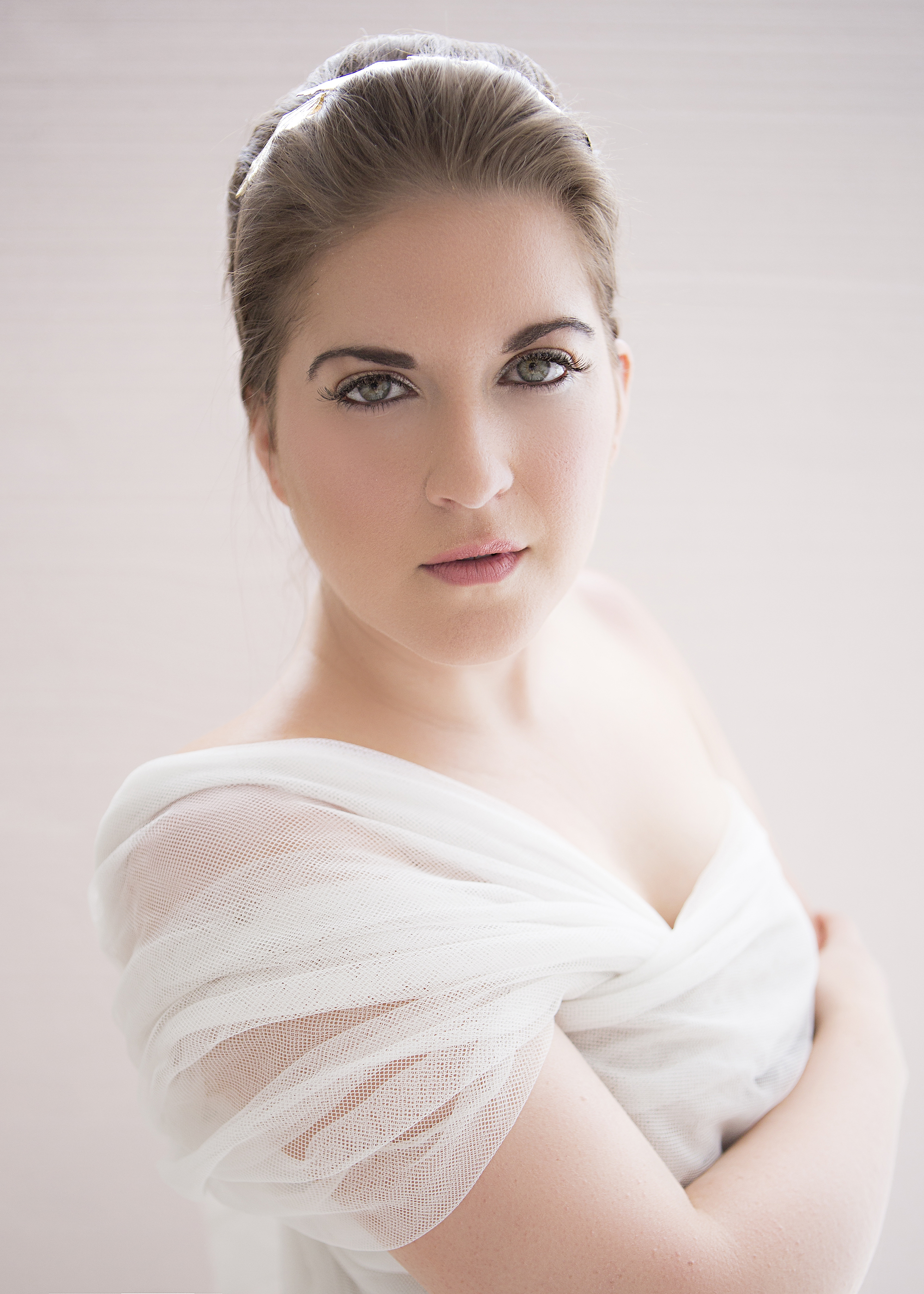 Those eyes, though! Beauty portrait with tulle by Lavish Boudoir™