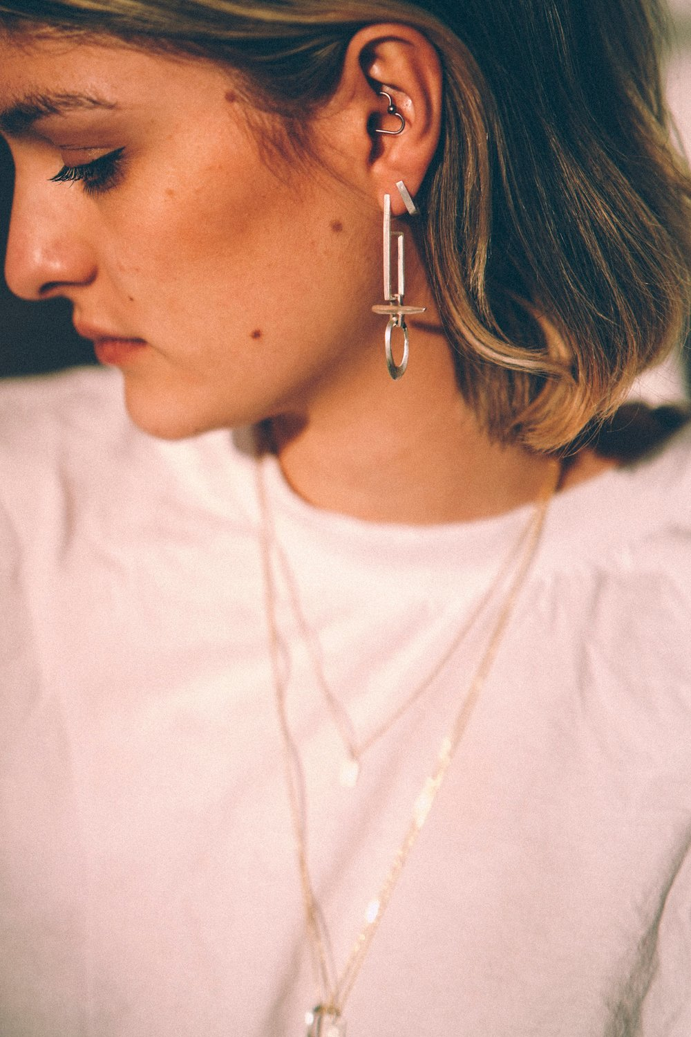 Sectional Drop Earrings