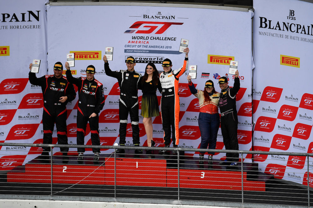 Podium Race 2 – ST Racing's Miller and Gottsacker on Top Step of podium (Rick Dole Photography)