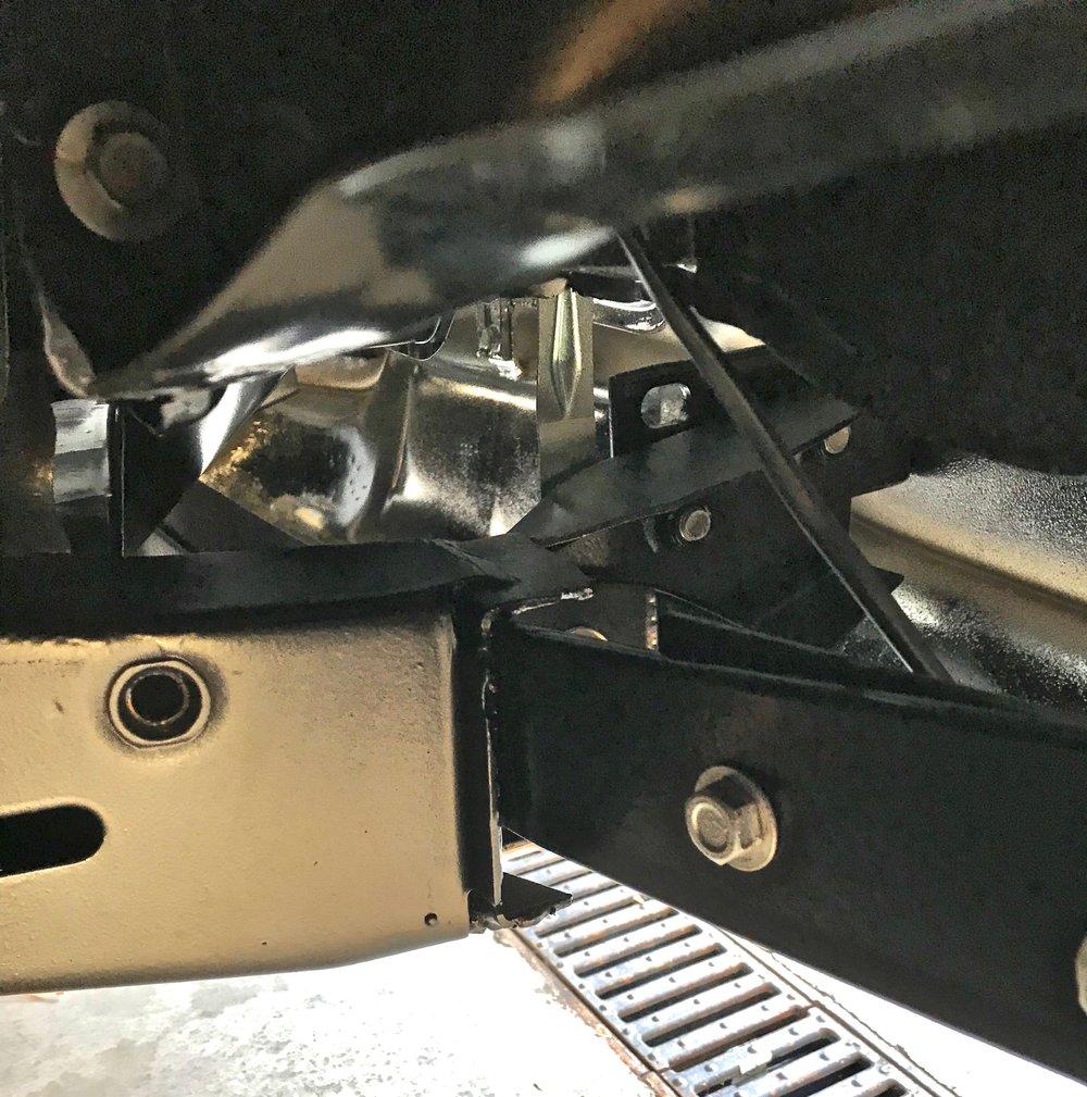 Modified '57 frame horn on my '58 Ghia.