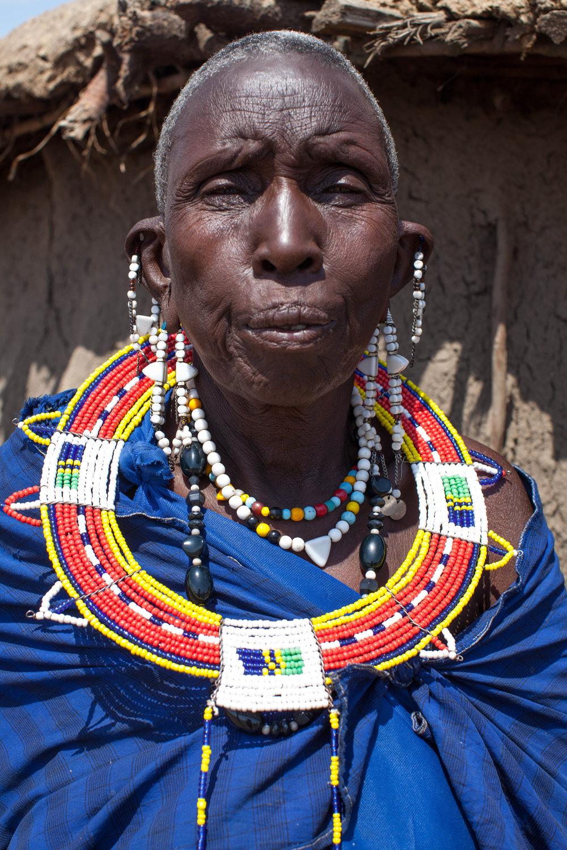 A Maasai woman in Tanzania.