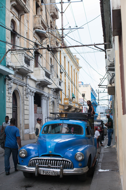 Street scene in Santiago de Cuba.