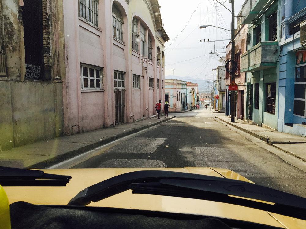 Street scene in Santiago de Cuba, Cuba.
