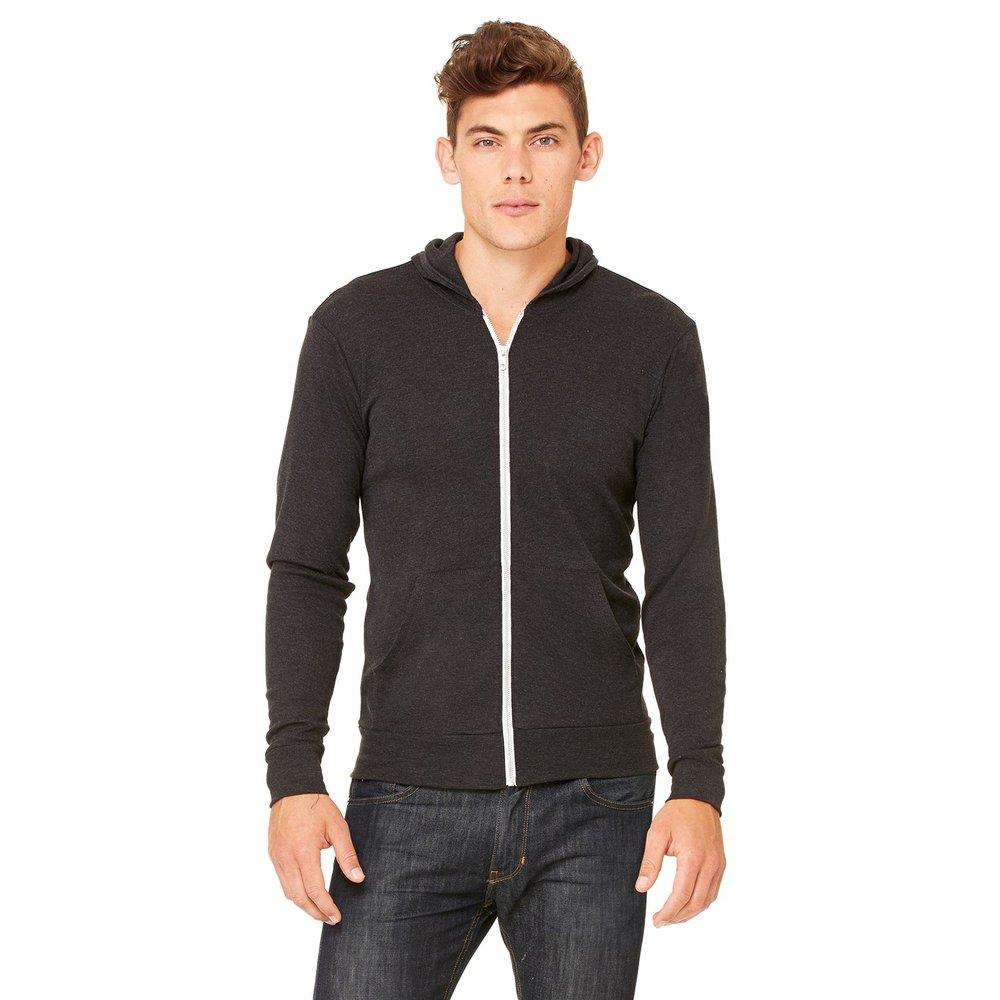 Triblend Full-Zip Lightweight Hoodie (Unisex) - Style #C3939