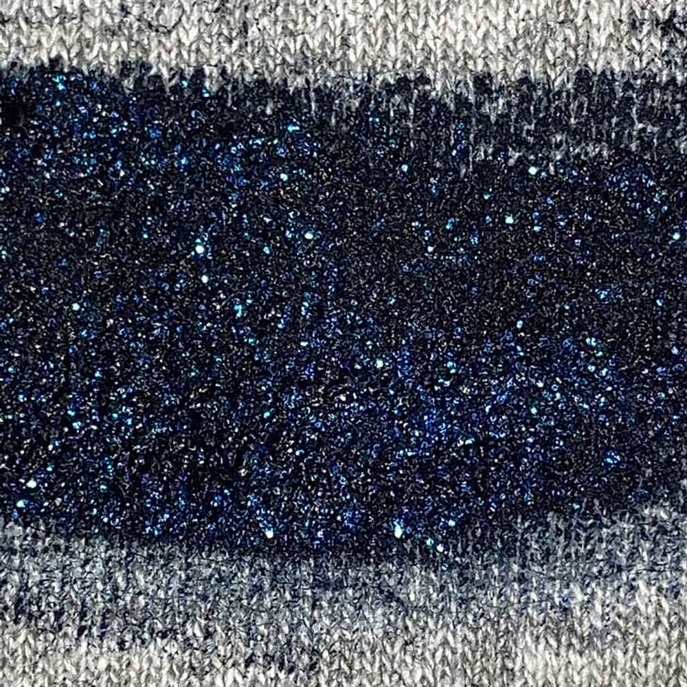 NAVY GLITTER INK  (prints like: transparent navy ink with larger blue metallic flakes)