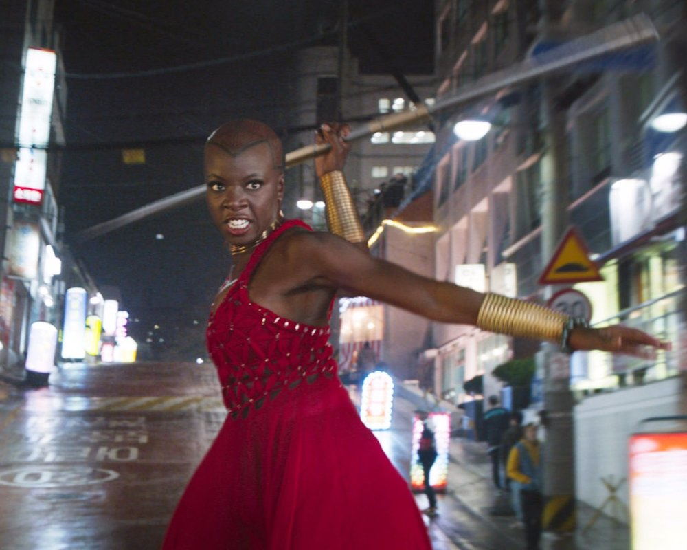 EMILY - Okoye (Black Panther) – A fierce, loyal, and dangerous warrior who makes tough choices, fights for what she believes in, and can take out a room full of threats with minimal effort. A devoted leader who protects what she loves, and isn't afraid to put you in your place with a snide comment if you step out of line.