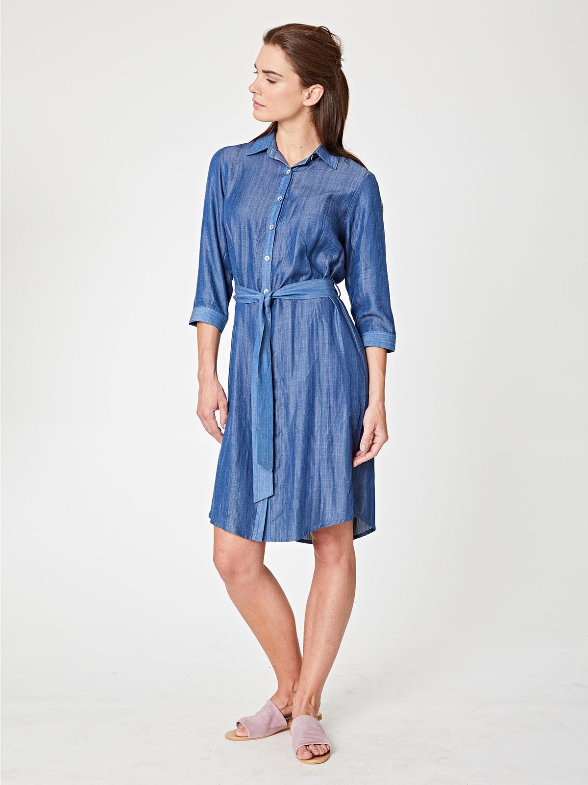 d282e0784b8 Meena Chambray Shirt Dress (XL) — Bella Boutique ... Outlet für Eco ...