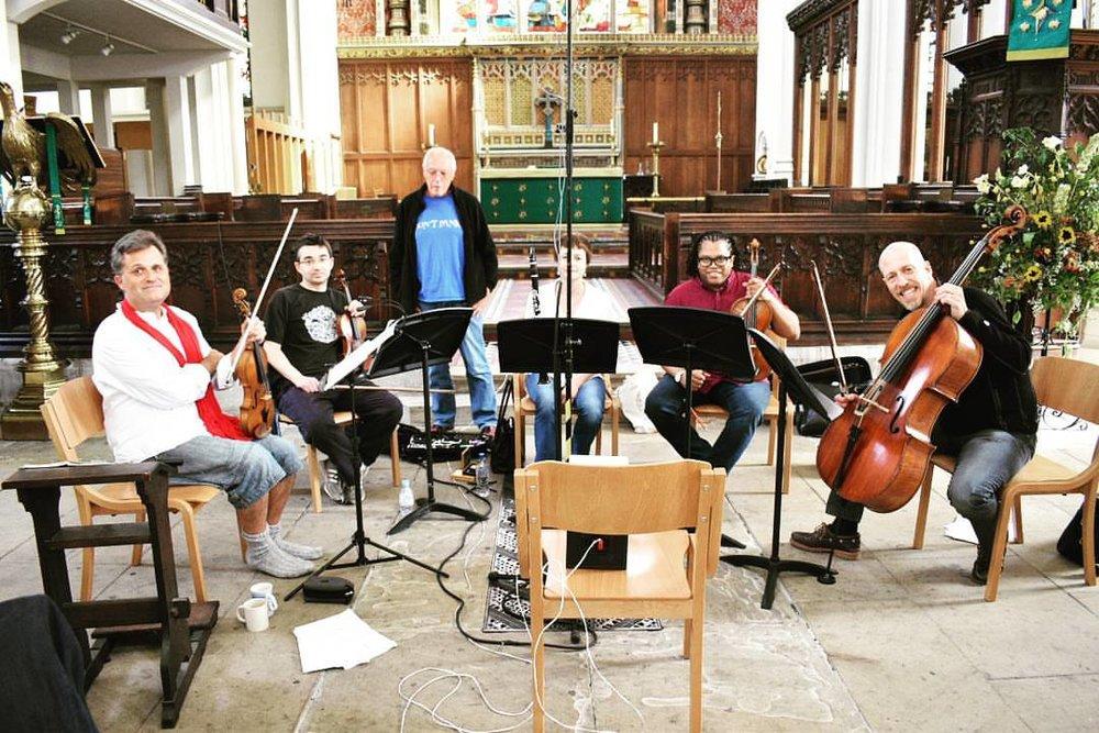 Kreutzer Quartet recording Michael Finnissy