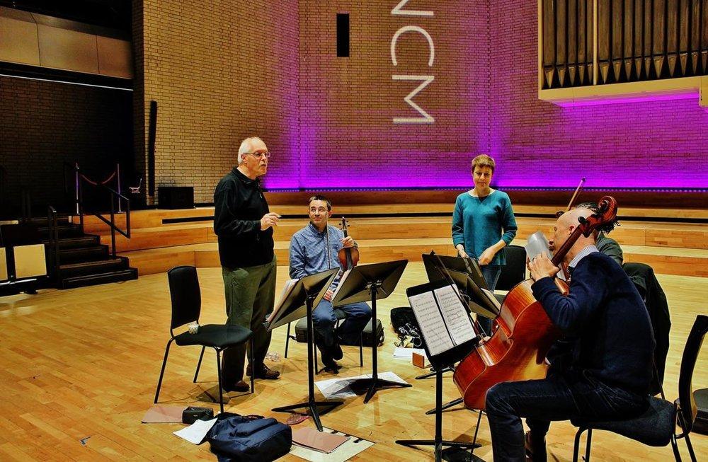 Kreutzer Quartet @ Royal Northern College of Music w/ Prof. Linda Merrick & Michael Finnissy