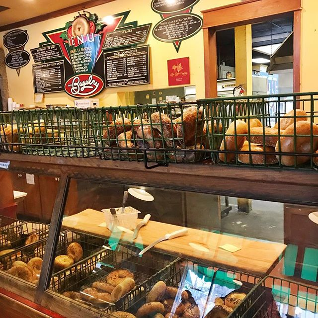 Happy Friday everyone! We allow space for a treat when we feel like it, and today is freshly boiled bagels😋 we love the everything bagel and the rosemary with sea salt. What are some of your favorite bagel flavors? #bagels