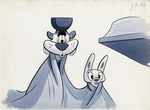 Original production cel from the first animated TV series in the United States,  Crusader Rabbit .