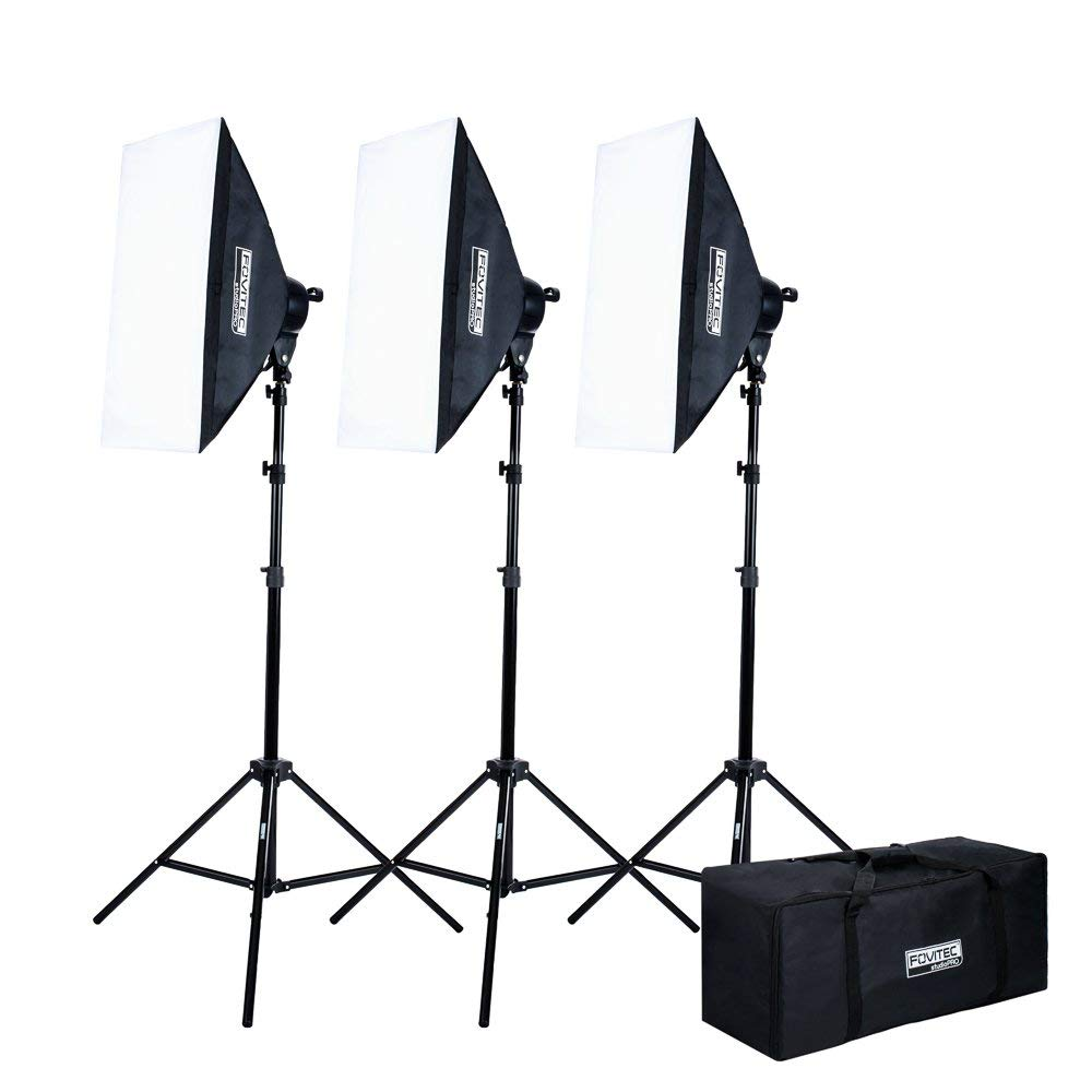 BMAC Fovtec StudioPro Softbox Lighting Kit