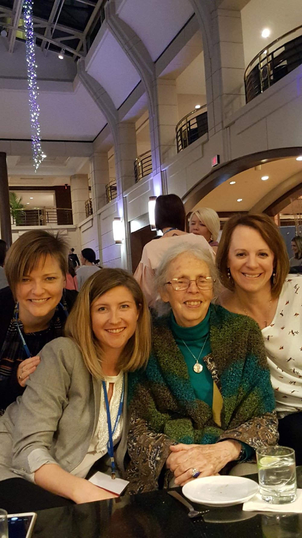 Drs tohtz, stofer, and mercier with the mother of all midwives the wonderful ina may gaskin