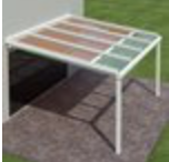 Tension Shade Model 1 - This Model can be installed above or below an existing glass roof or pergola, and the fabric glides along rails that are at the edge of the fabric. It is ideal for adding shade to glass roofs, conservatories, or pergolas.