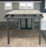 Tension Shade Model 2 - This model can be installed above an existing structure or mounted to a wall and supported with sturdy aluminum framework. The fabric glides on rails that are inset from the edge of the fabric, and it is ideal for shading large decks or patios, as well as pergolas, conservatories, or glass roofs.