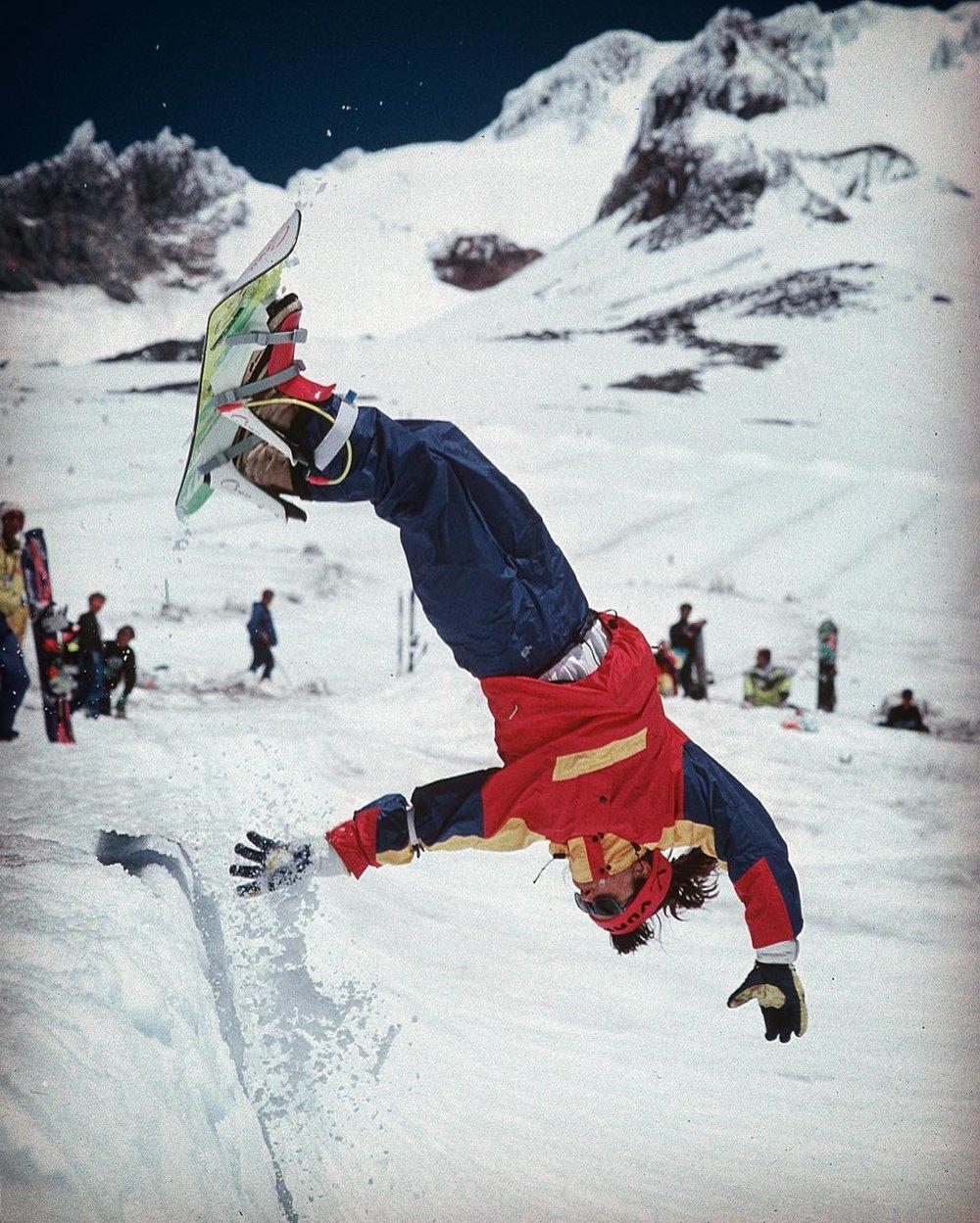Karol Snowboarding camp - 1988 / On Snow 1989. Chris karol.Jean Higgins by (please contact us)