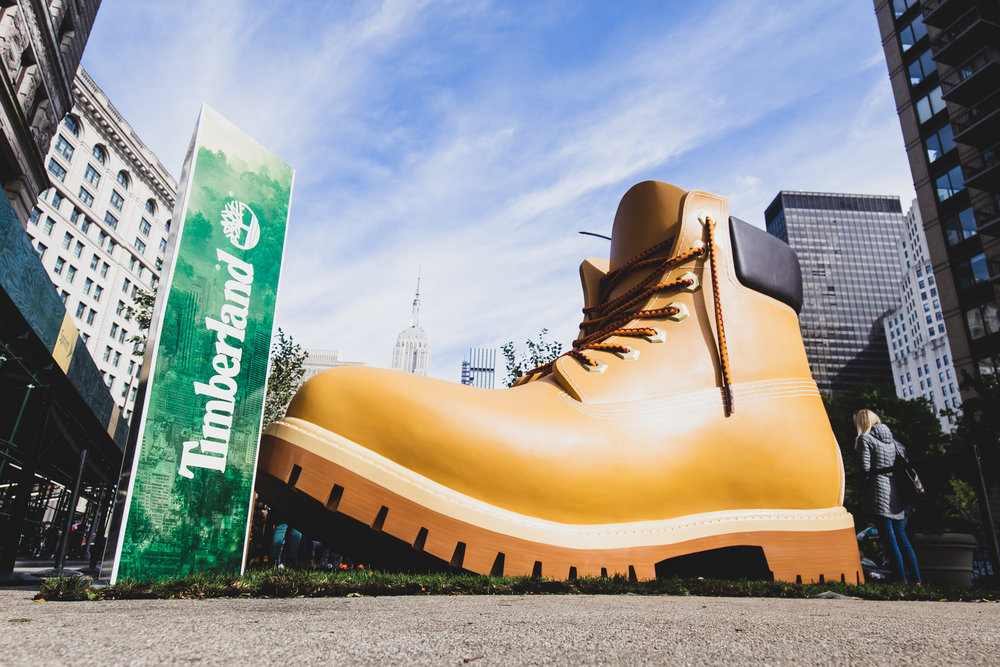 TIMBERLAND: GREEN INITIATIVE, POP UP PARK
