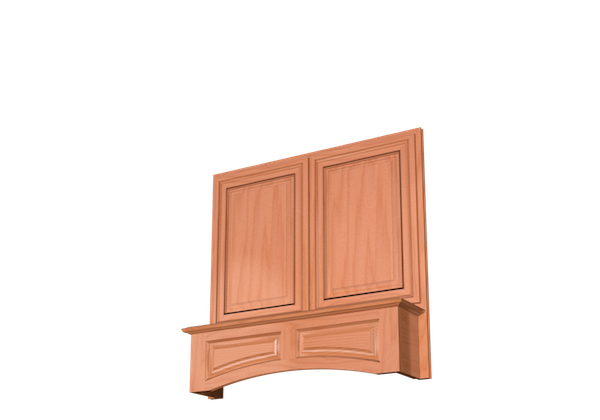 ARCHED VALANCE WALL RANGE HOOD