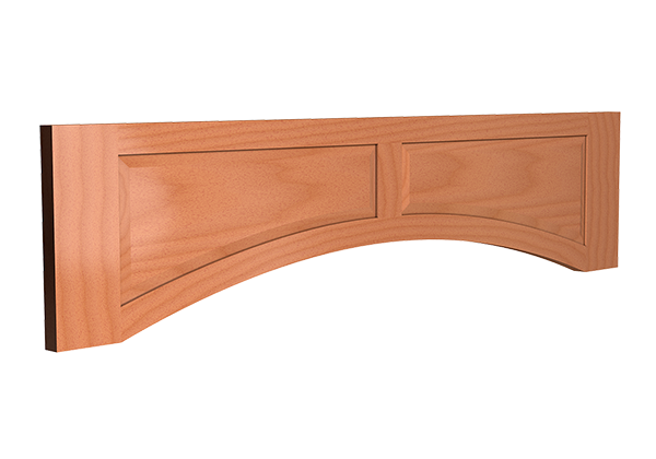 RAISED PANEL ARCHED VALANCE
