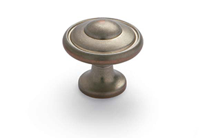 Beveled Knob Antique Pewter