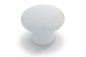 Ceramic Mushroom Knob White