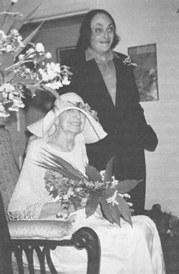 Amy and Harold Korn, on their wedding day