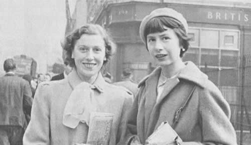 Amy with Barbara Blay, London, 1949