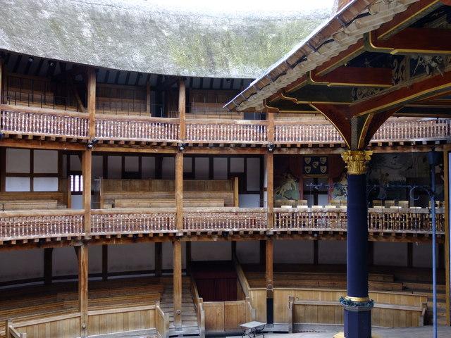 Interior of the Globe Theatre.