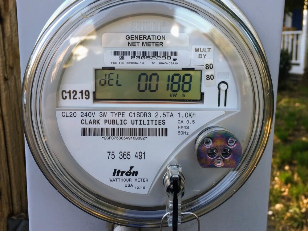 solar net energy meter washington