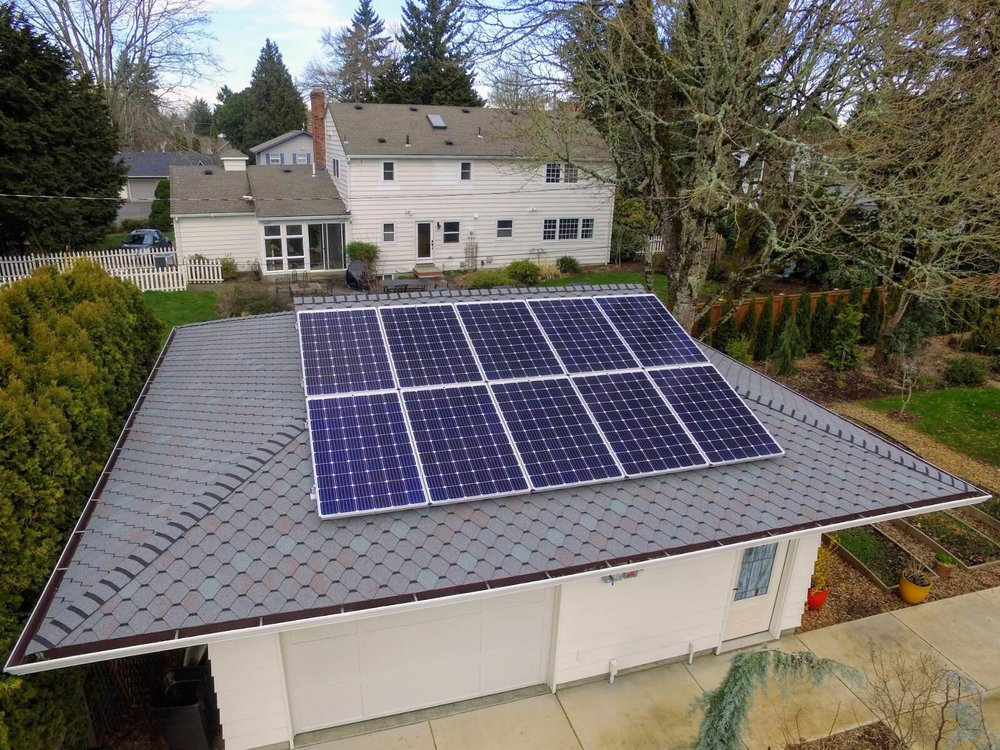 Grid Tied - The most popular grid tied system is designed to operate with your utility company and any unused power is then fed back to the electric company to be used at a later time.