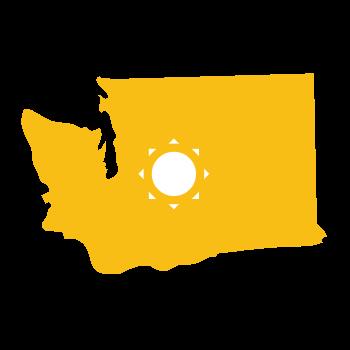 washington solar icon