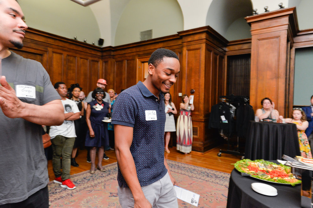 Center:  Taylor Ballon, First Recipient of the Inaugural Harry T. Pratt Award (Undergraduate)